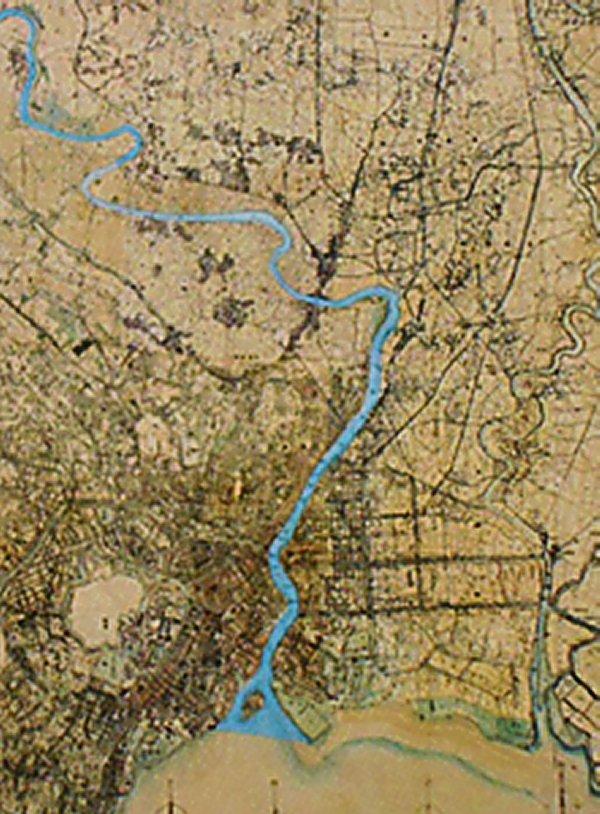 放水路建設以前の荒川放水路''