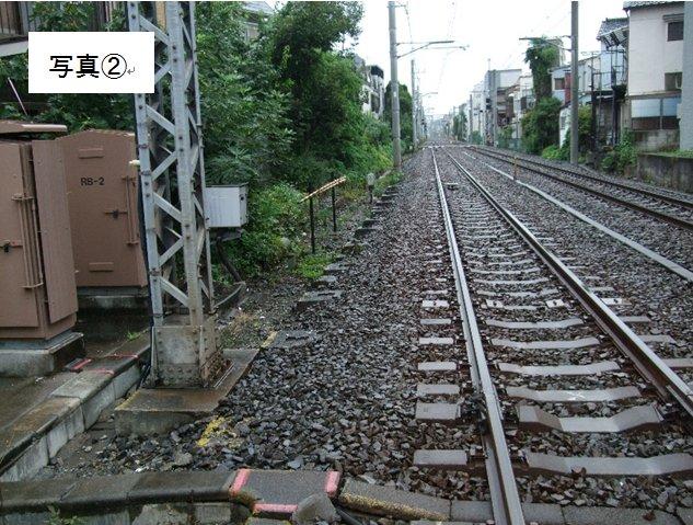 虎橋通りの亀戸線2号踏切から小村井駅方面''