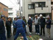 簡易救助器具による救助訓練